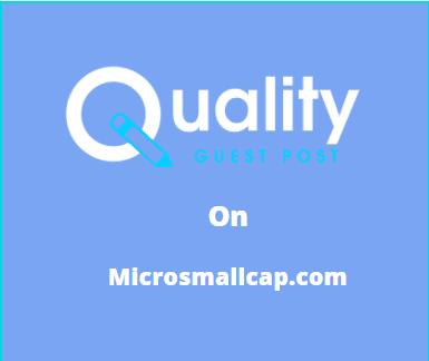 Guest Post on microsmallcap.com