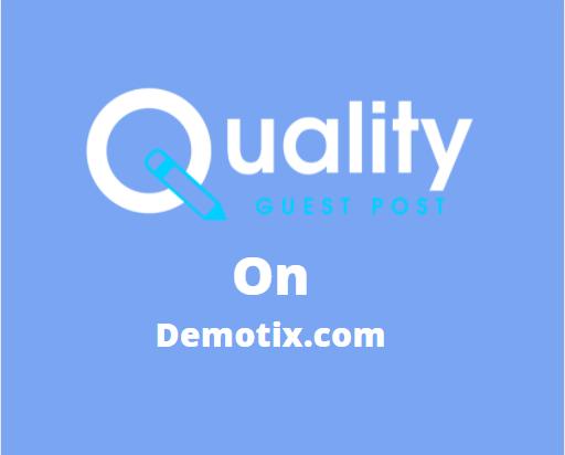 Guest Post on Demotix.com