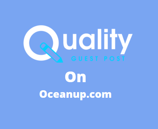 Guest Post on Oceanup.com