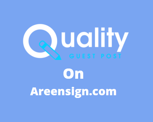 Guest Post on agreensign.com