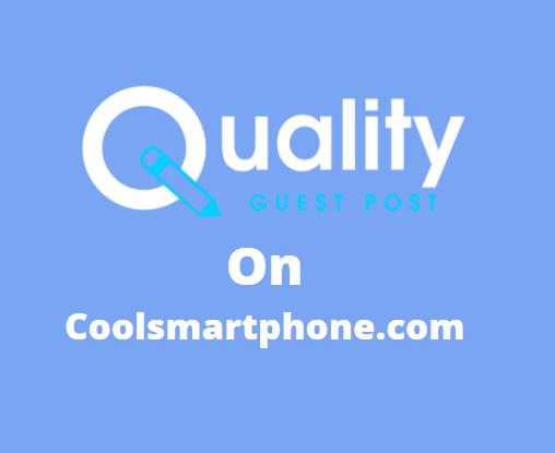 Guest Post on coolsmartphone.com