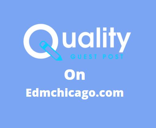 Guest Post on edmchicago.com