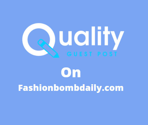 Guest Post on fashionbombdaily.com