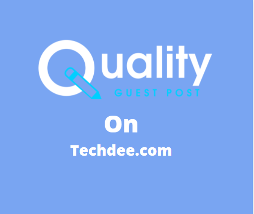 Guest Post on techdee.com