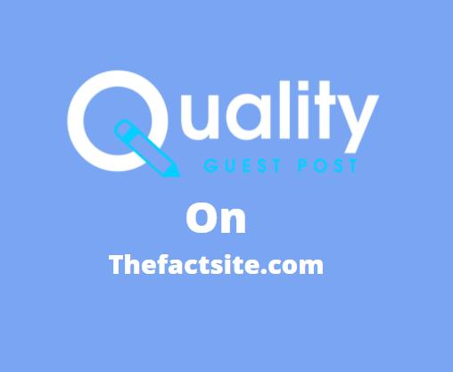 Guest Post on thefactsite.com
