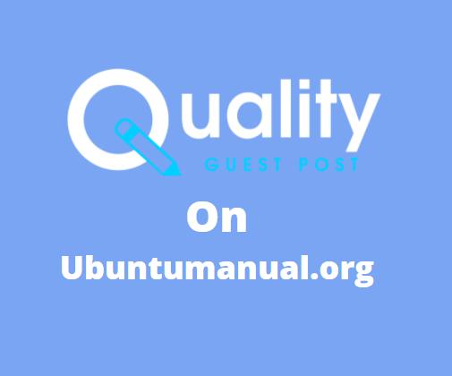 Guest Post on ubuntumanual.org