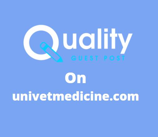 Guest Post on univetmedicine.com