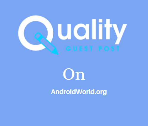 Guest Post on AndroidWorld.org