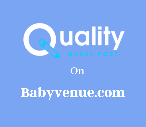 Guest Post on Babyvenue.com