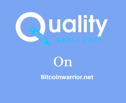 Guest Post on Bitcoinwarrior.net