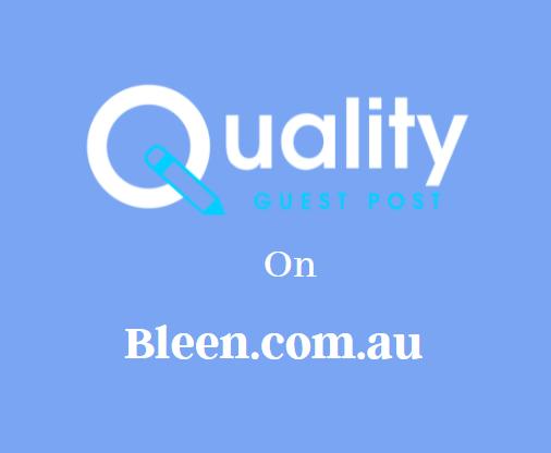 Guest Post on Bleen.com.au
