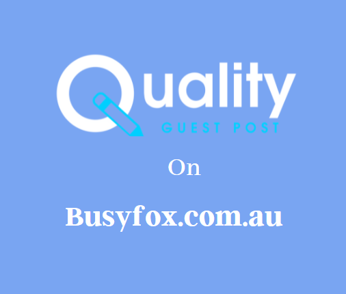 Guest Post on Busyfox.com.au