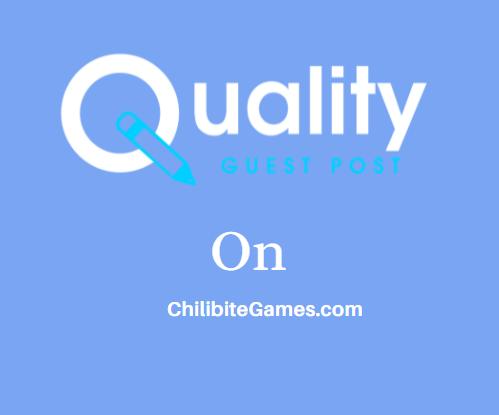 Guest Post on ChilibiteGames.com
