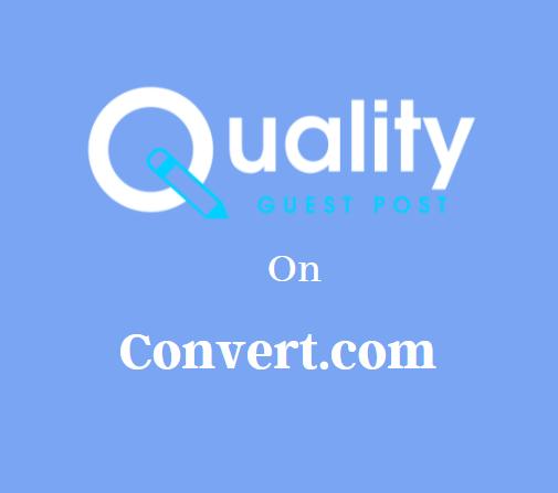 Guest Post on Convert.com