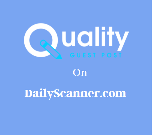 Guest Post on DailyScanner.com