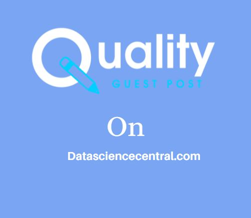 Guest Post on Datasciencecentral.com