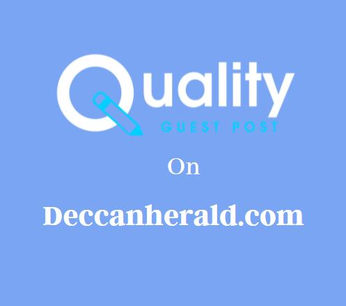 Guest Post on Deccanherald.com
