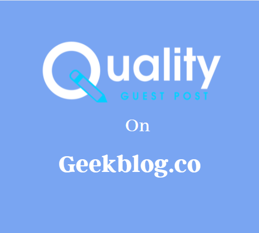 Guest Post on Geekblog.co