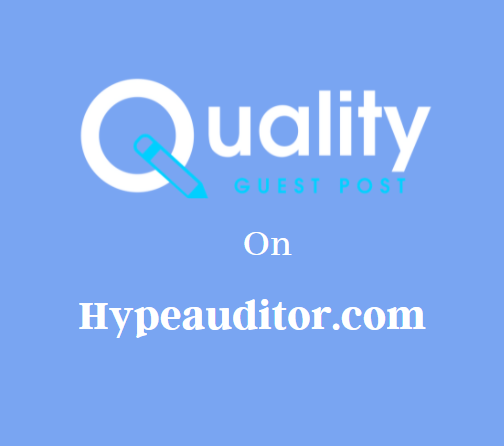 Guest Post on Hypeauditor.com
