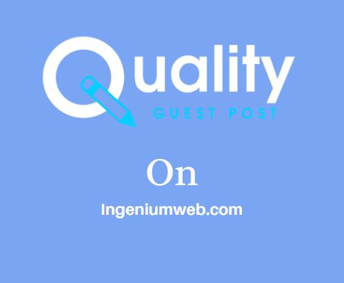 Guest Post on Ingeniumweb.com