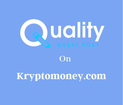 Guest Post on Kryptomoney.com