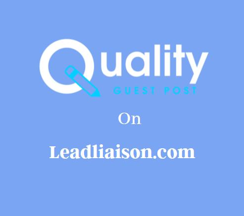 Guest Post on Leadliaison.com