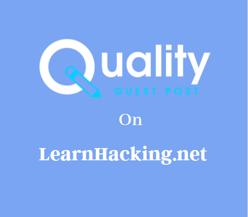Guest Post on LearnHacking.net