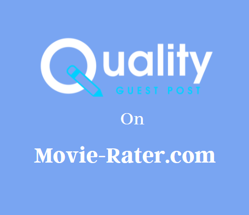 Guest Post on Movie-Rater.com