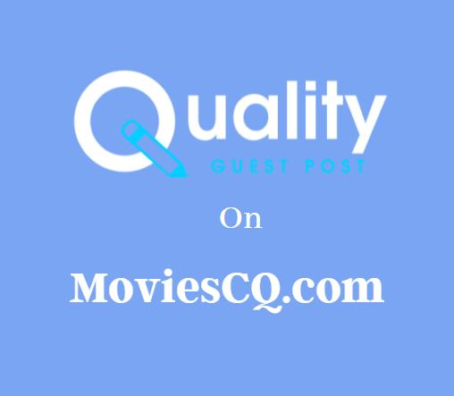 Guest Post on MoviesCQ.com