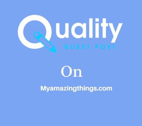 Guest Post on Myamazingthings.com