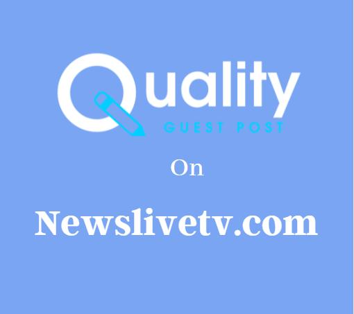 Guest Post on Newslivetv.com