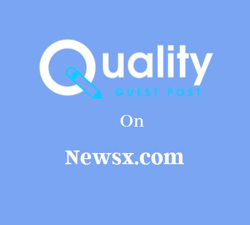 Guest Post on Newsx.com