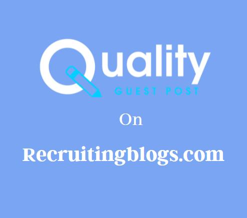 Guest Post on Recruitingblogs.com