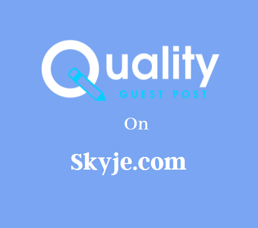 Guest Post on Skyje.com