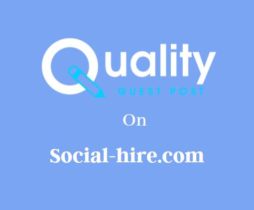 Guest Post on Social-hire.com