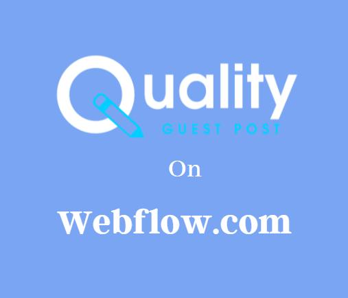 Guest Post on Webflow.com