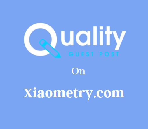 Guest Post on Xiaometry.com
