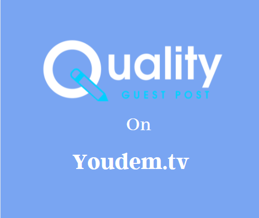 Guest Post on Youdem.tv
