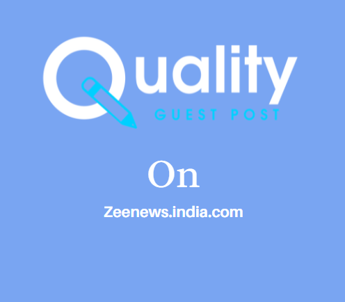 Guest Post on Zeenews.india.com