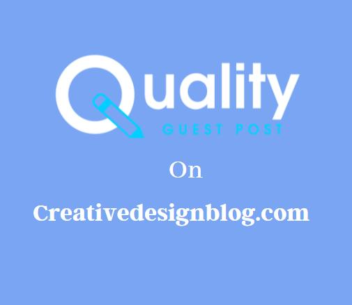 Guest Post on Creativedesignblog.com