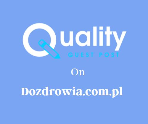 Guest Post on Dozdrowia.com.pl