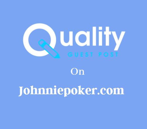 Guest Post on Johnniepoker.com