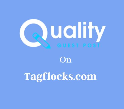 Guest Post on Tagflocks.com