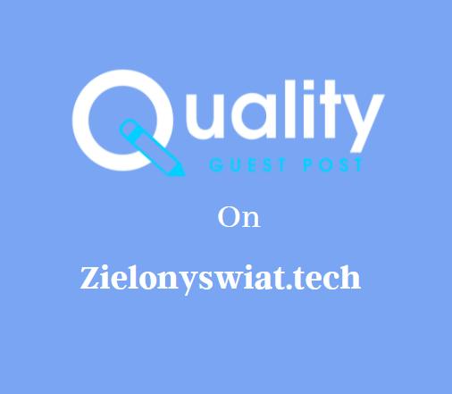Guest Post on Zielonyswiat.tech